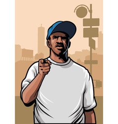 gangster pointing hand vector image