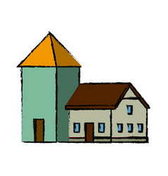 House with windows cellar traditional icon vector