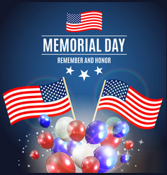 memorial day background template vector image