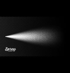Water spray mist effect on transparent background vector