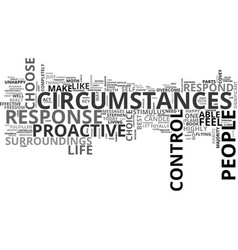 are you able to control your circumstances text vector image