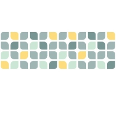 Abstract gray yellow rounded squares horizontal vector image vector image