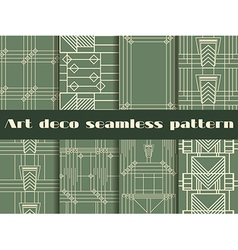Art deco seamless patterns style 1920s 1930s vector image vector image