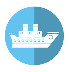 Boat cruise travel sea shadow vector