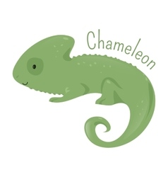 Chameleon isolated Child fun pattern icon vector image vector image
