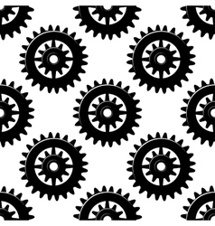Machine gears and pinions seamless pattern vector image