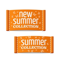 New summer collection clothing labels vector image vector image