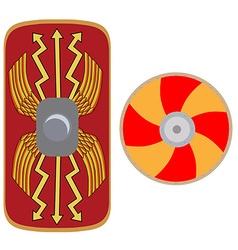 Viking and roman shield vector