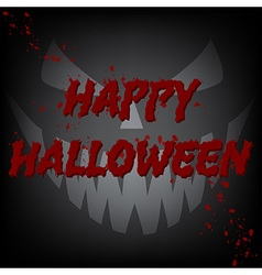 Happy halloween bloody card devil face vector