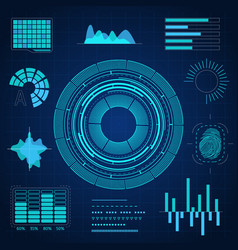 hud interface futuristic graphic background card vector image