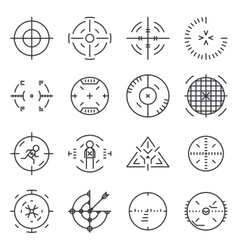 Targets collection vector image
