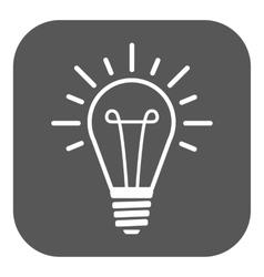 The lightbulb icon illumination symbol flat vector