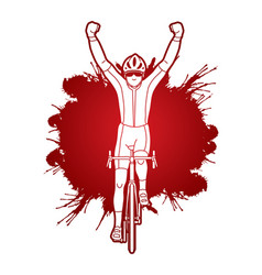 the winner bicycle riding vector image vector image