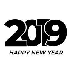 2019 happy new year isolated on white background vector image