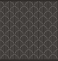 Abstract art deco seamless circle pattern vector