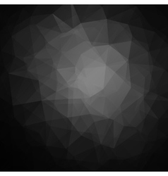 Abstract black geometric triangle background vector image