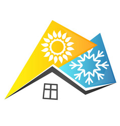 air conditioning residential building vector image