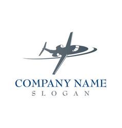 Airplane company logo vector