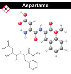 Aspartame molecular structure vector