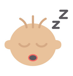 Baby boy sleep flat icon child and infant vector