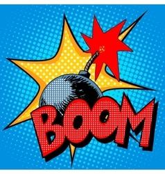 Boom bomb blast comic style vector image