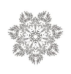 branches stylized mandala vector image