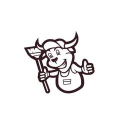 bull cartoon mascot vector image