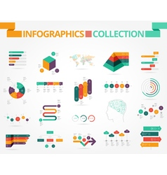 Business and social infographics design elements vector