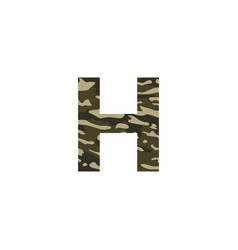 camouflage logo letter h vector image