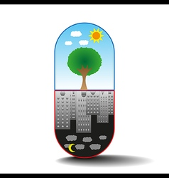 Capsule of life vector image
