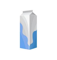 carton box of milk healthy fresh dairy product vector image