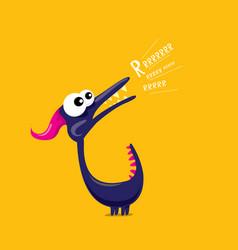 Cartoon funny dragon cartoon dinosaur vector