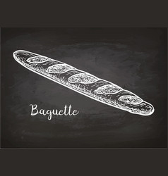 Chalk sketch of bagette vector