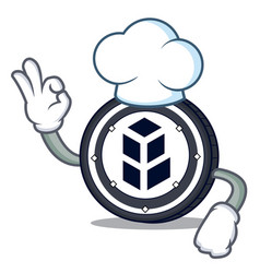 Chef bancor coin character cartoon vector