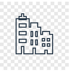 cityscape concept linear icon isolated on vector image