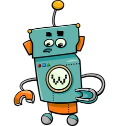 comic robot cartoon character vector image