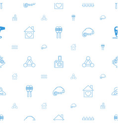 Creative icons pattern seamless white background vector