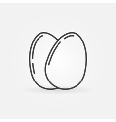 Eggs outline icon vector image