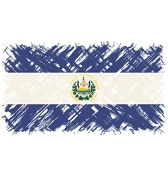 El Salvador grunge flag vector