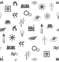 energy seamless pattern vector image
