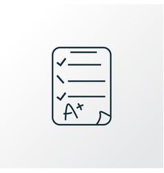 exam paper icon line symbol premium quality vector image