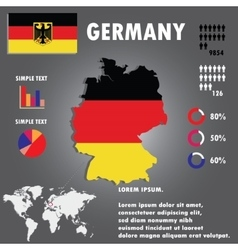 Germany Country Infographics Template vector