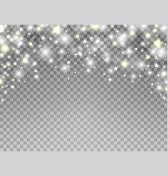 glowing light frame on transparent background vector image