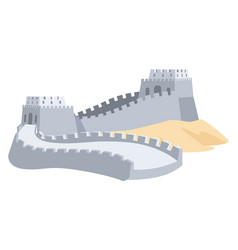 Great wall of china part of ancient structure vector