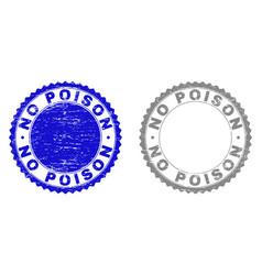 grunge no poison textured stamp seals vector image