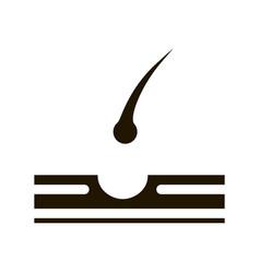 Hair losing icon glyph vector