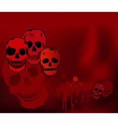 halloween skulls vector image