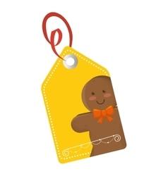 Happy merry christmas tags card vector
