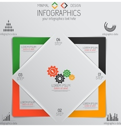 infographics template vector image