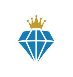 king diamond precious gem graphic design template vector image